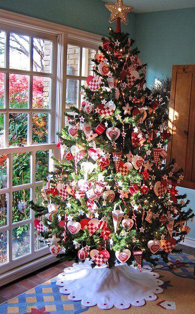 Arboles de navidad decorados 2016 2017 80 fotos y for Arboles navidenos decorados