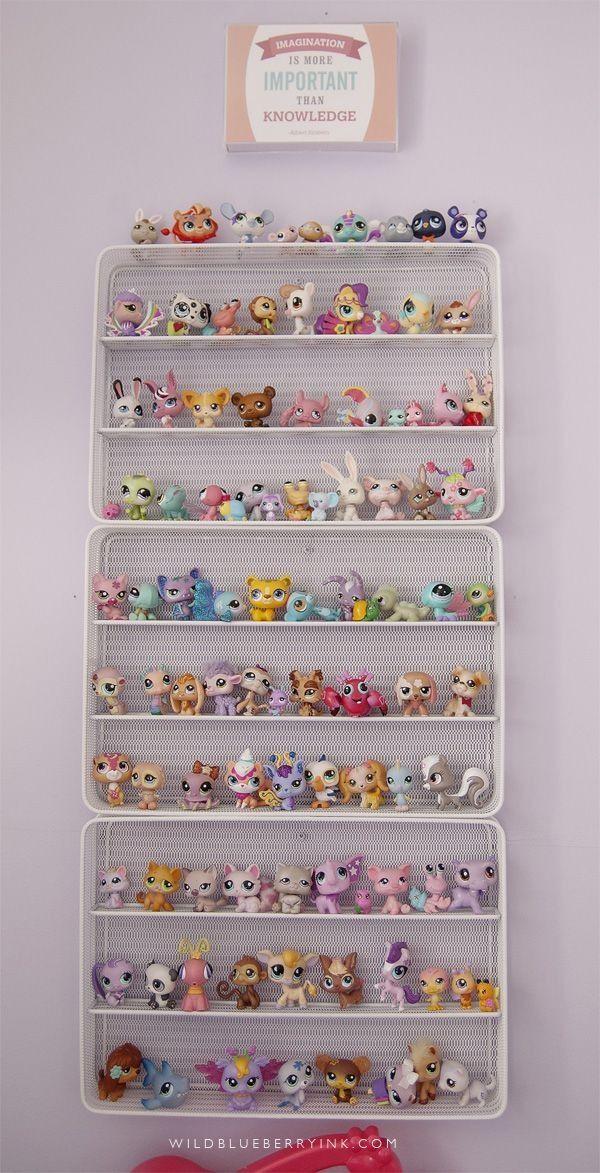 My Little Pony Metal Toy Storage Unit Box Organiser Kids: My Collection Of Littlest Pet Shop