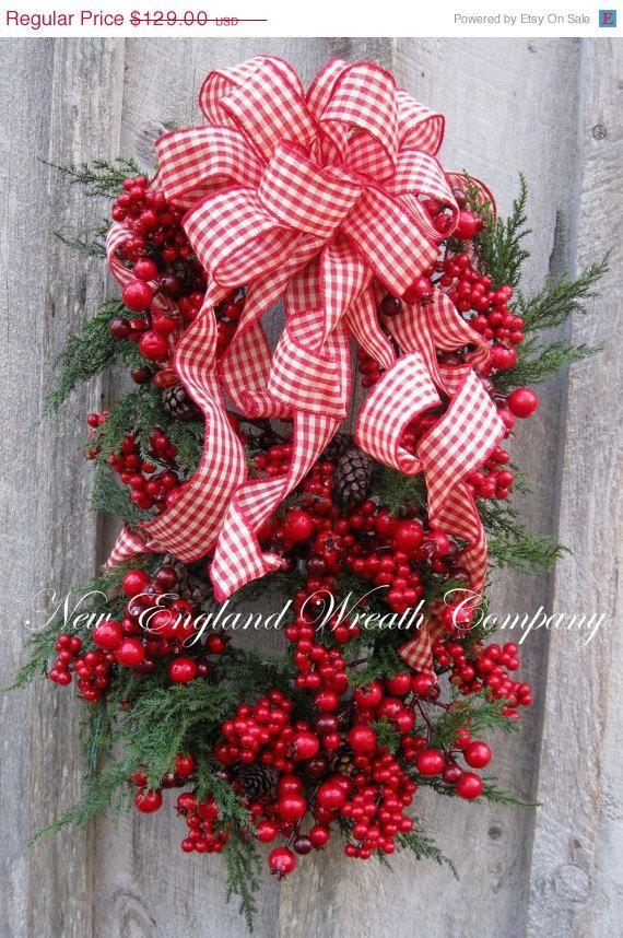 Christmas Wreath Holiday Wreath Williamsburg by NewEnglandWreath, $103.20