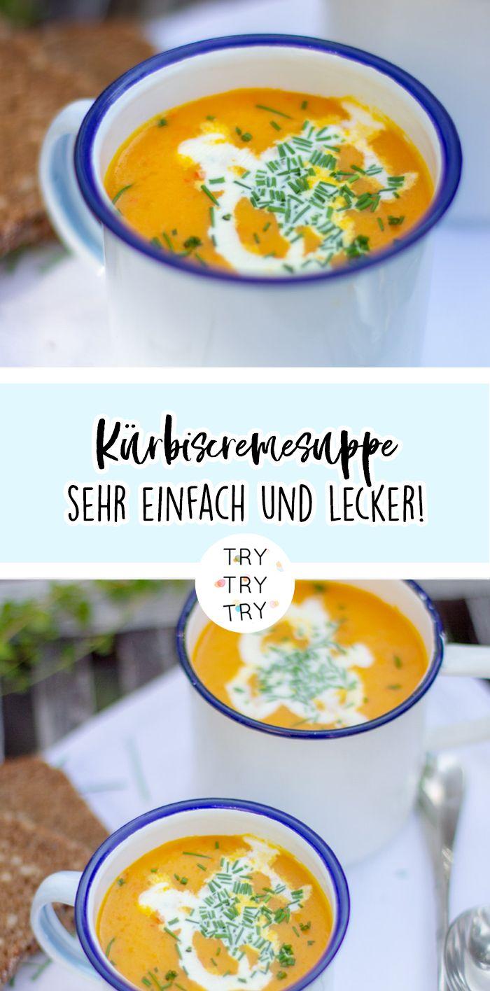 Klassische Kürbissuppe – das perfekte Rezept für kalte Herbsttage   – Rezepte { trytrytry }