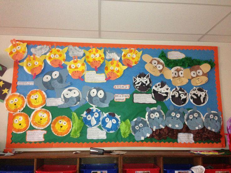 Classroom Zoo Ideas ~ Zoo animal bulletin board school theme