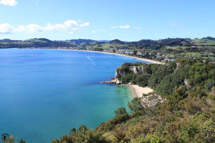 Neuseeland - Ausblick auf Lonely Beach und die Cook Bucht