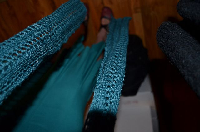 Lacy Accent Scarf by hauterevel, via Flickr