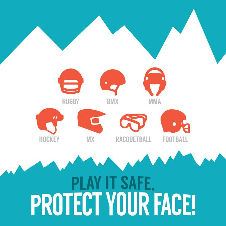 NOTHING SPOILS the fun of sports like an injury. Protect your teeth by wearing face protection and a mouthguard!