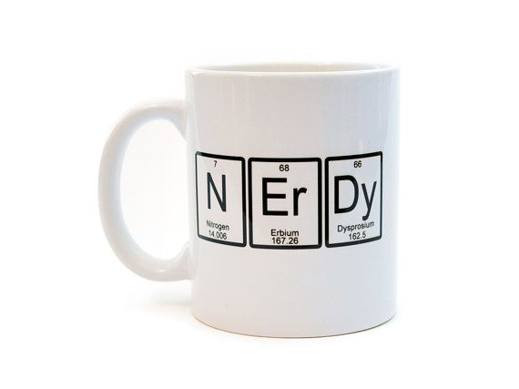 Nerdy Mug Periodic Table Of Elements Funny White Ceramic Coffee Or Tea Mug Ceramics White