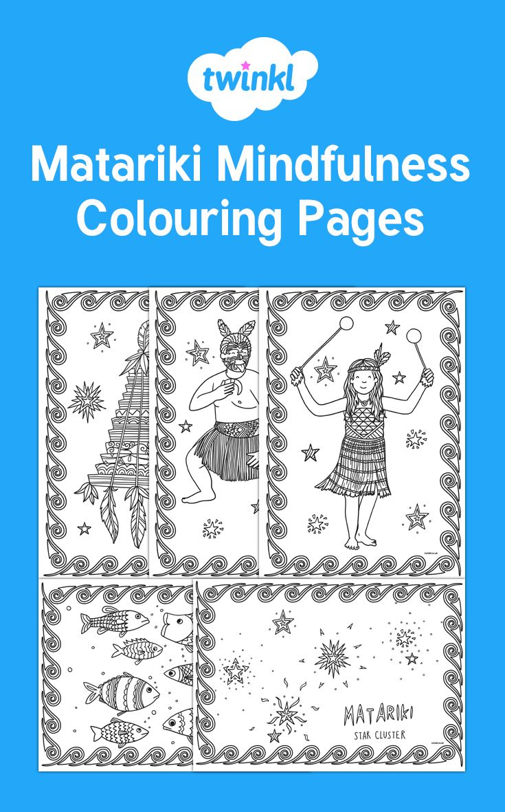 Matariki themed mindfulness colouring!