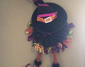 Halloween Witch Wreath by SassyOliveBell on Etsy