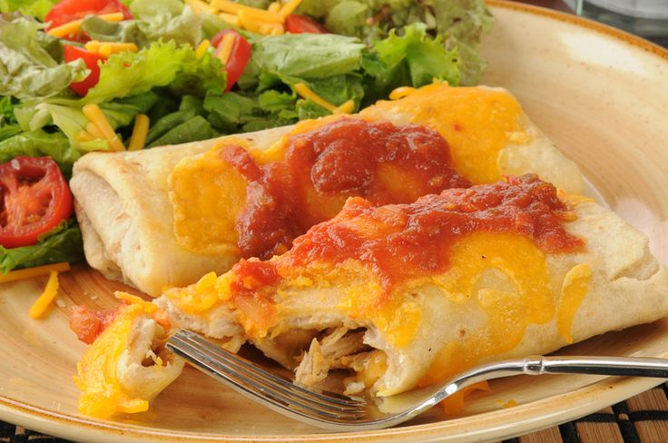 These Healthier Baked Chicken Chimichangas Skip A Lot of the FatBut None of the Flavor! Sometimes the only food that makes sense on those nights when you are looking for