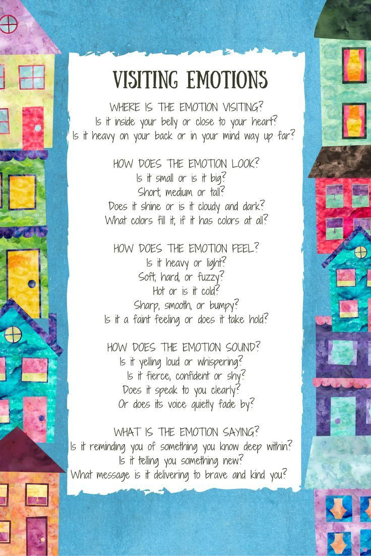 Mindfulness Poem about Relating To Feelings.  Great way to get kids talking about their emotions.