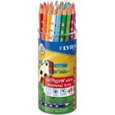 Lyra Groove Slim 48 darabos háromszög alakú színes ceruza készlet pohárban Ft Ár 4,879 Lyra Groove Slim 48 darabos háromszög alakú színes ceruza készlet pohárban  Lyra Groove Slim Natural Grip lakkozott és hegyezett, jó minőségű, háromszög alakú színes ceruza készlet. A háromszög alakú színes ceruza készlet 48 különböző színes ceruzát tartalmaz és egy zsugorfóliázott pohárban kerül forgalomba. Jól fedő és ragyogó színek. A háromszög alakú színes ceruzák nagyon jól hegyezhetők. Az innovatív…