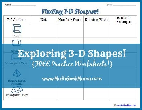 Fun and low prep worksheets to explore 3d shapes properties and nets!