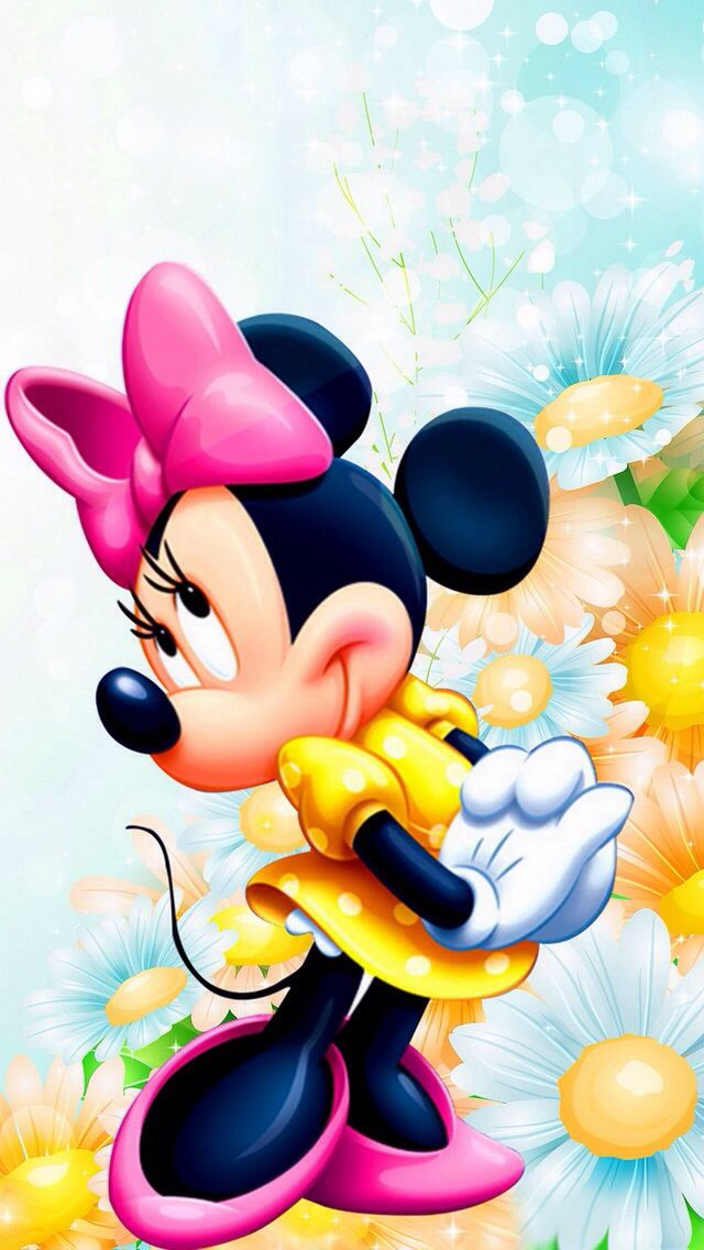 MINNIE MOUSE, IPHONE WALLPAPER, BACKGROUND: