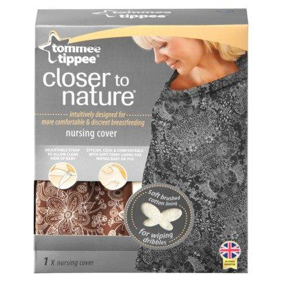Tommee Tippee Closer To Nature Feeding Wrap Brown for privacy. Snuggle your baby close and breastfeed discreetly with this Tommee Tippee nursing wrap. The cute wrap is stylish and functional, so you can feed your little one on demand whenever and wherever. The wrap adjusts to fit your personal comfort desires. Includes: Removable Cover Features: Adjustable Closure Certifications: Meets CPSC Standards Material: Cotton, Polyester Protective Qualities: Color Fast Care and Cleaning: Machine…