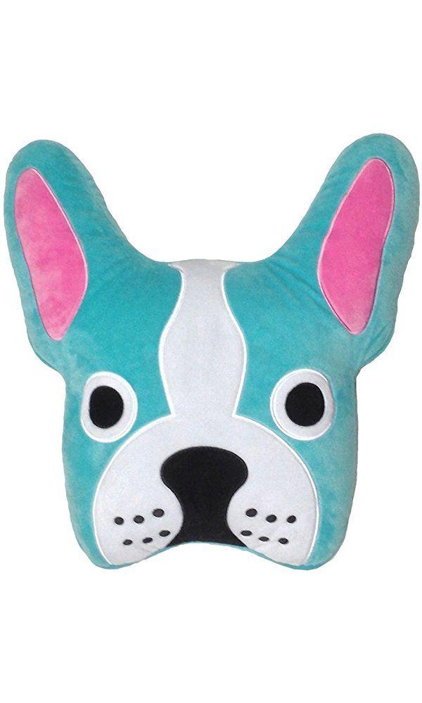 Iscream French Bulldog Embroidered Fleece Microbead Pillow Best Price