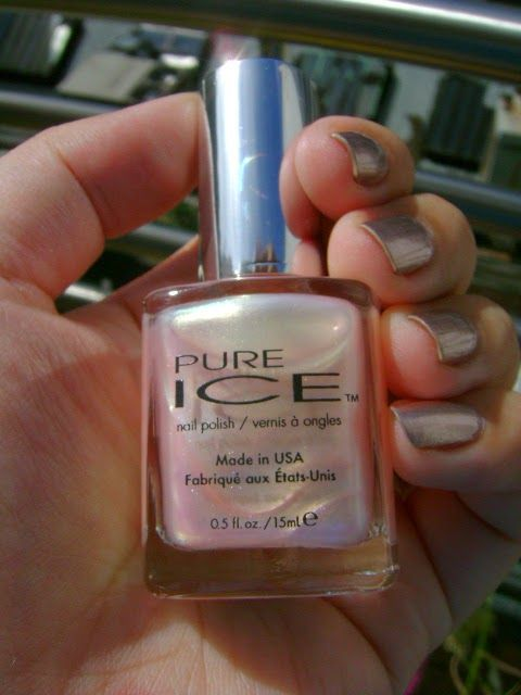 Smart and Sarcastic With Dashes of Insanity: REVIEW of Pure Ice Nail Polish in First Love With SWATCHES