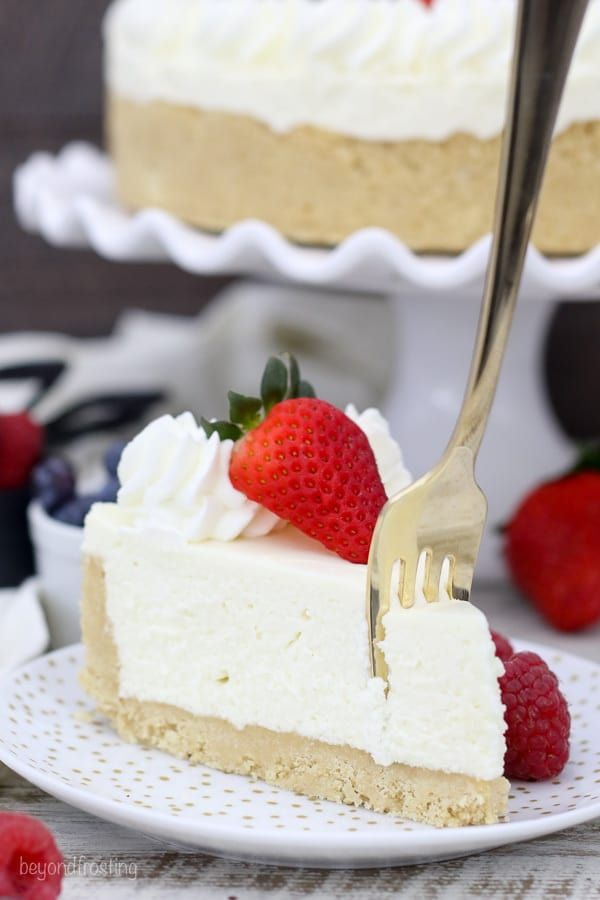 This Is The Best Ever No Bake Cheesecake Made Without Cool Whip And No Gelatin This Homemade No Bake Cheeseca Baking Cheesecake Recipes No Bake Banana Pudding