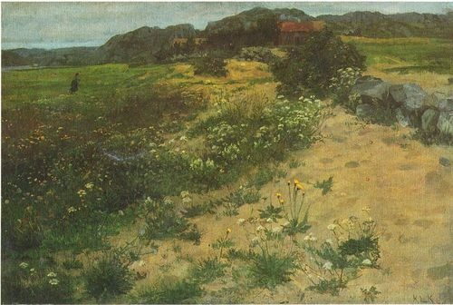 Paintings by Norwegian landscape painter Kitty Kielland(1843-1914)