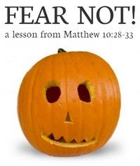 """I was just looking for something to celebrate at Halloween since we don't celebrate the grim stuff. What better thing to celebrate than freedom from fear. I found myself teaching my son """"this little light of mine"""" song as we lit our jackolantern"""