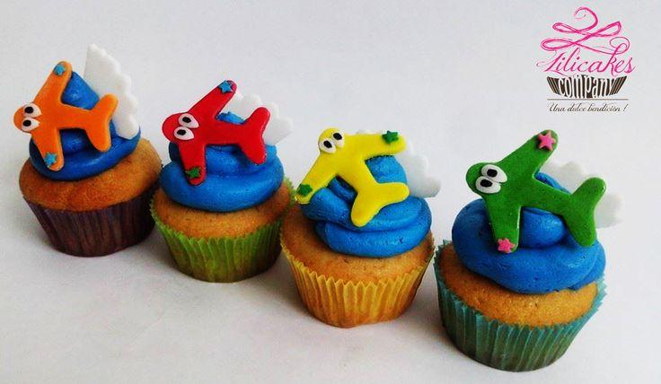 Airplane cupcakes Cupcakes de aviones