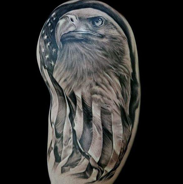 American Flag Bald Eagle Tattoo