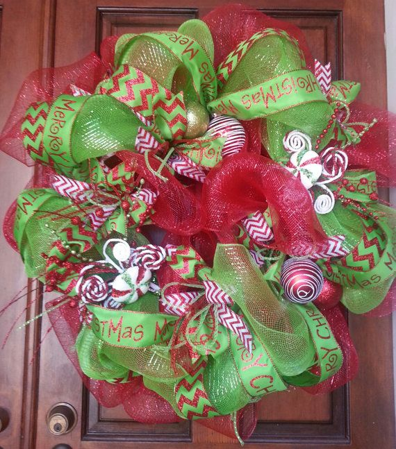Christmas wreath by twosouthernchicksdes on etsy - Adornos navidenos pinterest ...