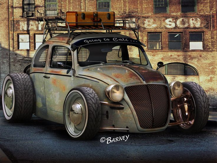 Awesome VW rat rod concept drawing