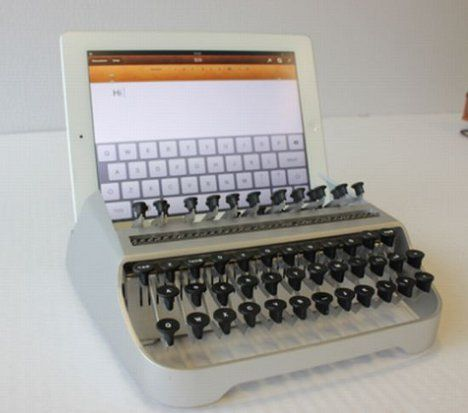 Typewriter iPad Dock Blends New Tech + Classic Style