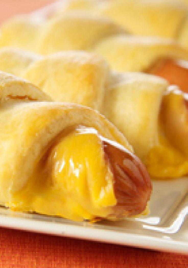 Cheesy Hot Dog Crescents — Inspired by one of your favorite appetizers, these cheesy hot dogs are wrapped in tender, flaky crescents.