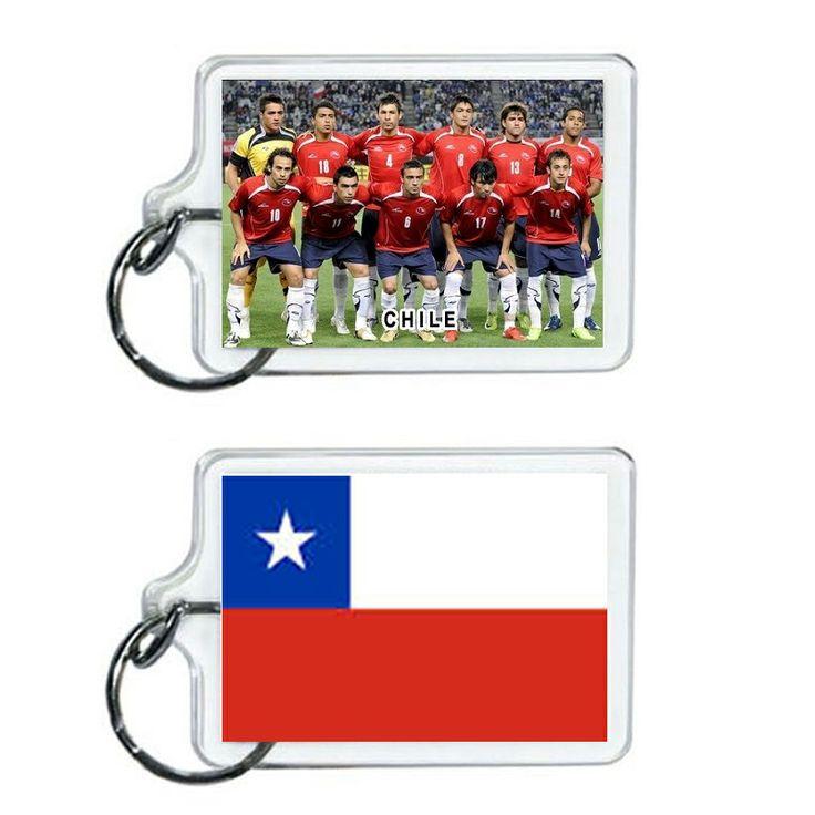 Chile Soccer Flag 2014 Team Player Acrylic Keychain 2 x 1 | www.balligifts.com