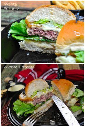 hambúrguer suculento, como fritar, grelhar um hambúrguer e deixa-lo suculento