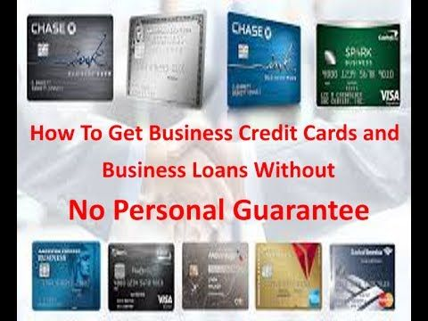 Business Credit Tips and Tutorials: Business Credit Cards Without A Personal Guarantee...