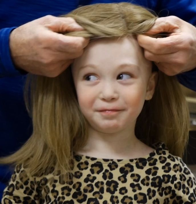 """We followed a hair donation through the """"Wigs For Kids"""" process to find out.   Must be at least 12"""" and  not colored or gray, and must be in a ponytail."""
