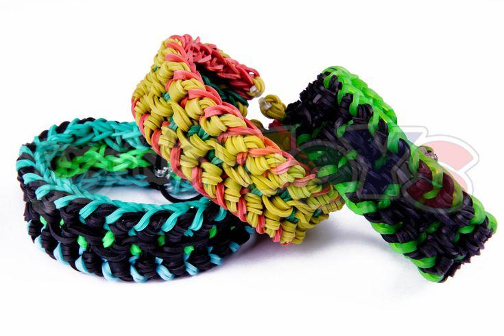 nice Military Bracelet - Triple Over and Under - Rainbow Loom Tutorial - Needs 2 Looms