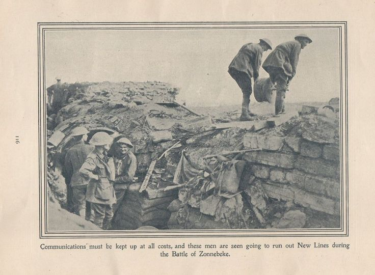 """Original 1917 Anzac Print-Antique Vintage """"Communications must be kept up at all"""