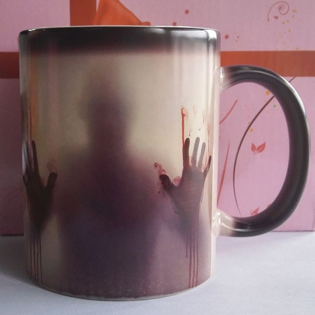 Mudança Da Cor De Cerâmica Caneca de Café Canecas legal e Moda Dom Copo Calor Revelar Canecas Mágicas para o Amigo