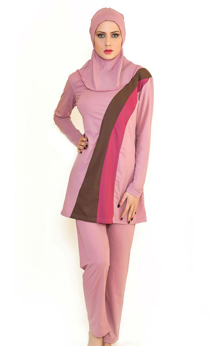 Modesty Muslim Women Swimwear Full Cover Islamic Swimsuit