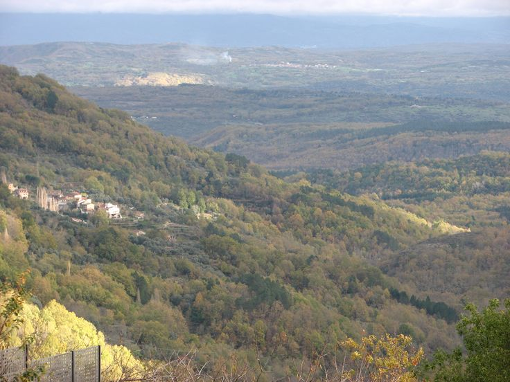 Otoño en Sierra de Francia. Panorámica desde el mirador del Castillo de San Martín del Castañar