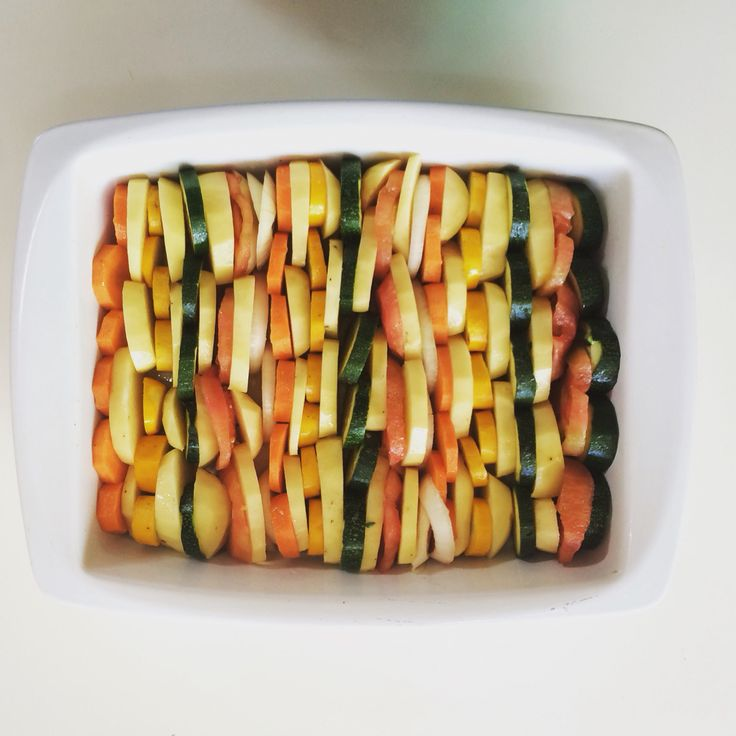Vegetables and cheese in the oven