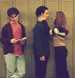 Pin for Later: Let's Relive Cory and Topanga's Crazy-Cute Romance Meanwhile, Shawn's totally OK being the third wheel to such a cool couple.