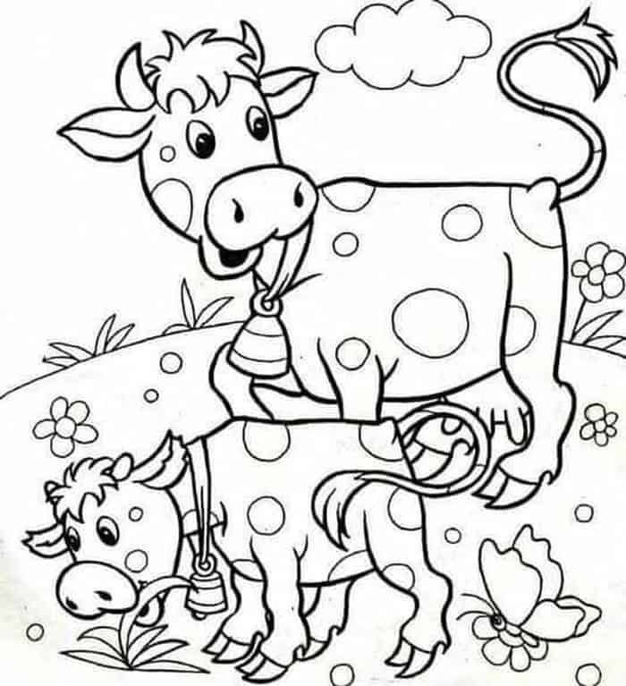 How To Draw A Cow | Kuh-kunst, Tierkunst, Kuh zeichnung | 767x700