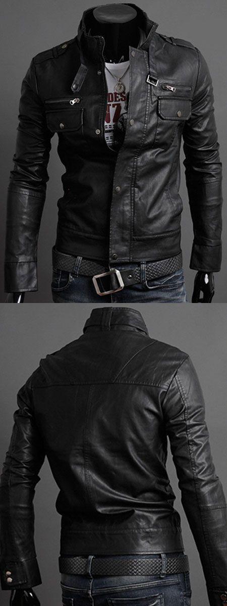 $19.14,Pockets Design Long Sleeve PU Leather Jacket - Black M | Rosewholesale,rosewholesale.com,rosewholesale clothes,rosewholesale.com clothing,rosewholesale for men,rosewholesale tops,rosewholesale jackets,coats & jackets,jackets&coats,leather jackets,black jackets,coats,jackets,men's fashion,winter outfits | #Rosewholesale #coats  #jackets #menswear