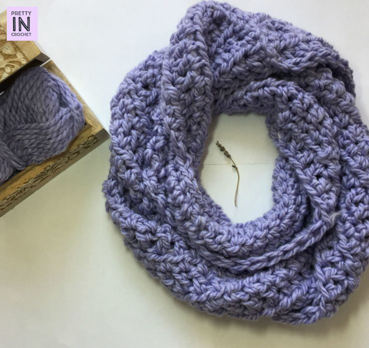 Chunky Lavender Scarf free crochet pattern