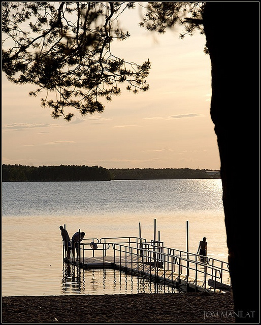 Swimming in the evening. Luleå, Sweden. Your Health Your Life!!