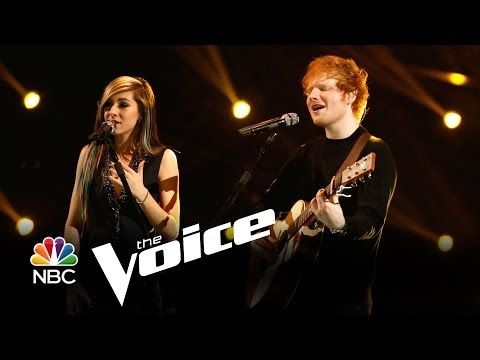 """▶ Ed Sheeran and Christina Grimmie: """"All of the Stars"""" (The Voice Highlight) - YouTube - from the 2014 finale of The Voice, a highlight for me."""