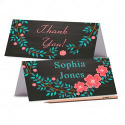 RUSTIC PLACE CARDS Blackboard with mason Jar Wedding Place Card Wedding Place card Garden Name Cards Rustic Labels