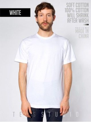 WHITE Blank Basic O neck - Tees Studio