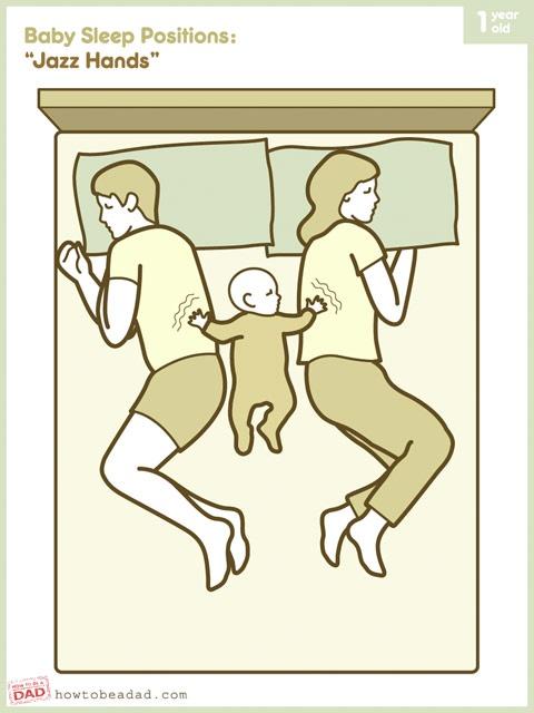 """Baby Sleep Positions: """"Jazz Hands"""""""