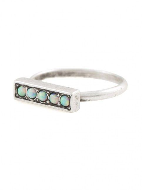 Vanessa Mooney The Empire Double Chain Ring in Metallic Silver cQlv5mAd