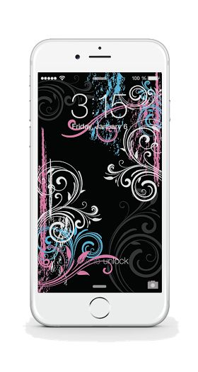Free Black iPhone Background from bloom daily planners