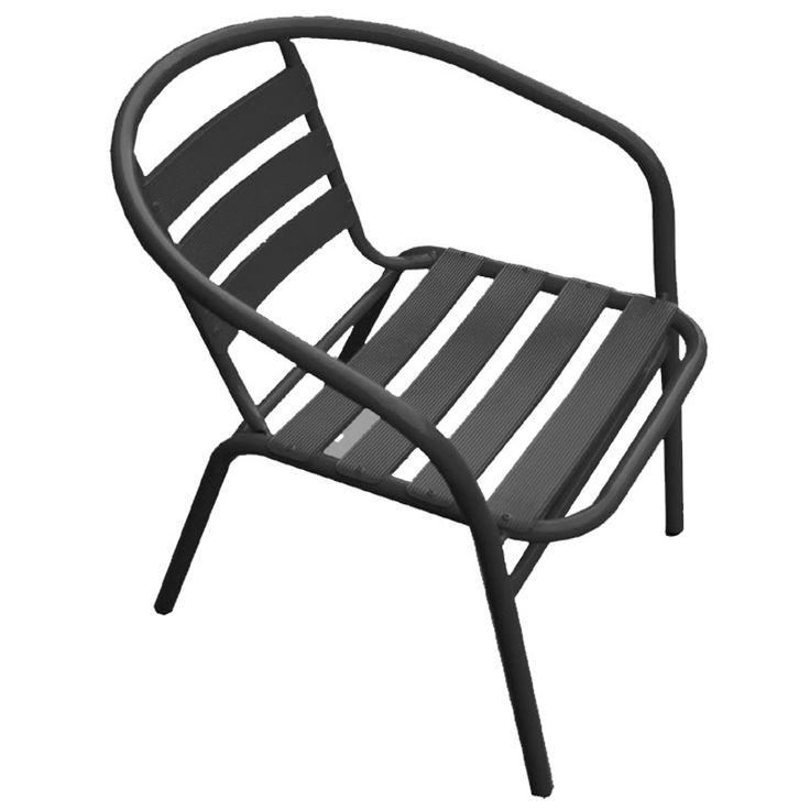Funky garden armchair steel-aluminum anthracite Ε242,4